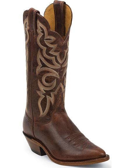 Justin Bent Rail Cognac Damiana Cowgirl Boots - Pointed Toe