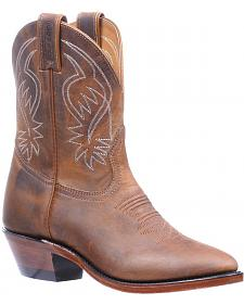 Boulet Hillbilly Golden Shorty Cowgirl Boots - Round Toe