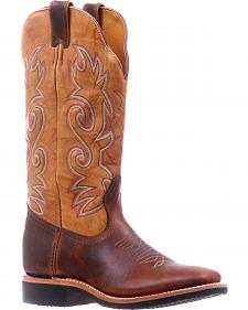 Boulet Brown Extralight Cowgirl Boots - Square Toe