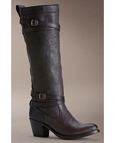Frye Women's Jane Strappy Riding Boots - Round Toe