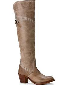 Frye Women's Jane Tall Cuff Riding Boots - Round Toe
