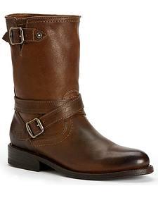 Frye Women's Jayden Cross Engineer Boots - Round Toe