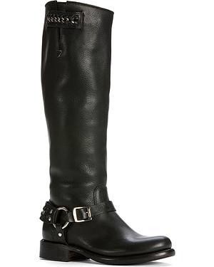 Frye Womens Jenna Chain Riding Boots - Round Toe