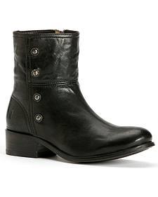 Frye Women's Lynn Military Short Boots - Round Toe