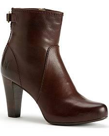 Frye Women's Marissa Zipper Short Boots - Round Toe
