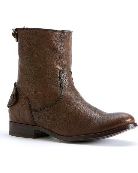 Frye Women's Melissa Button Zipper Short Boots - Round Toe