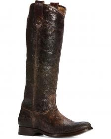 Frye Women's Melissa Button Riding Boots - Round Toe