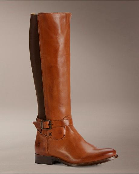 Frye Women's Melissa Gore Zipper Riding Boots - Round Toe