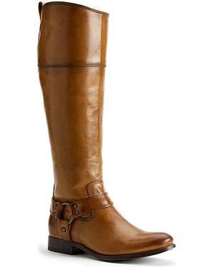 Frye Womens Melissa Harness Inside Zipper Riding Boots - Extended Calf