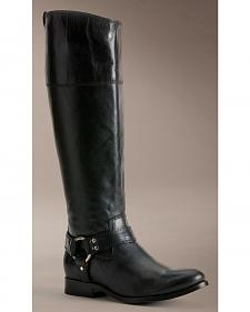 Frye Women's Melissa Harness Inside Zipper Riding Boots - Extended Calf