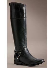 Frye Women's Melissa Harness Inside Zipper Riding Boots - Extended Calf