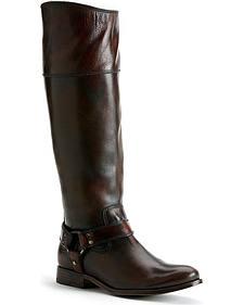 Frye Women's Melissa Harness Inside Zipper Riding Boots