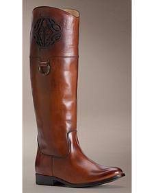 Frye Women's Melissa Logo Riding Boots - Round Toe