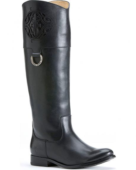 Frye Women's Melissa Logo Riding Boots - Round Toe