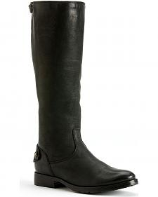 Frye Women's Melissa Lug Back Zipper Tall Boots - Round Toe