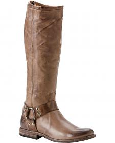Frye Women's Phillip Harness Riding Boots - Round Toe