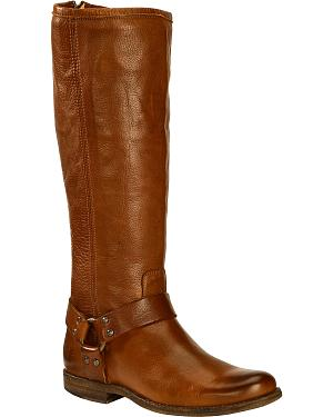 Frye Womens Phillip Harness Riding Boots - Extended Calf