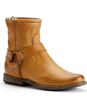 Frye Womens Phillip Harness Boots - Round Toe