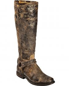 Frye Women's Phillip Studded Harness Riding Boots - Round Toe