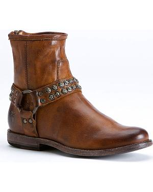 Frye Womens Phillip Studded Harness Boots