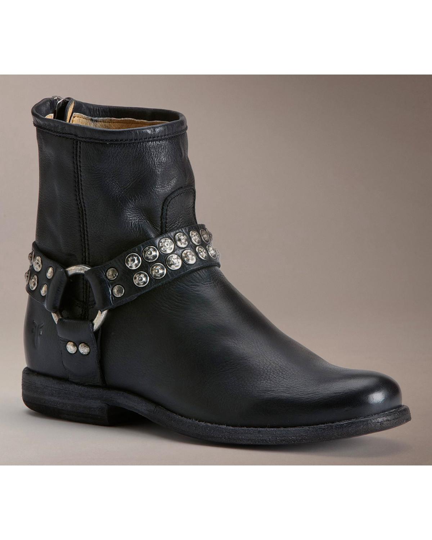 frye s phillip studded harness boot 76491 gry ebay