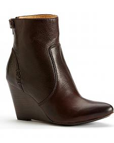 Frye Women's Regina Wedge Back Zipper Boots - Round Toe