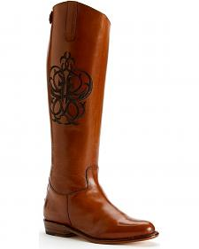 Frye Women's Riding Back Zipper Boots - Round Toe