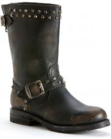 Frye Women's Rogan Biker Zipper Boots - Round Toe