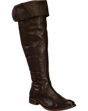 Frye Womens Shirley Over The Knee Riding Boots - Round Toe