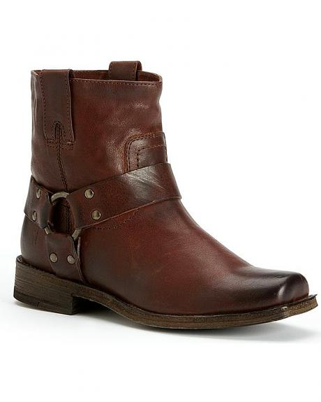 Frye Women's Smith Harness Short Boots - Square Toe