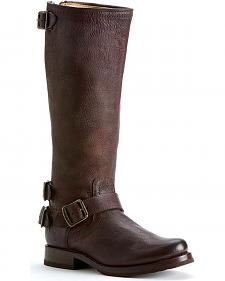 Frye Women's Veronica Back Zip Riding Boots - Round Toe