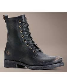 Frye Veronica Combat Boots - Round Toe