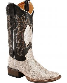 Tanner Mark Women's Fashion Dragon Cowgirl Boots - Square Toe