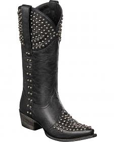 Lane Rock On Studded Cowgirl Boots - Snip Toe