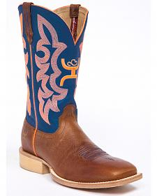 Hooey by Twisted X Neon Blue Cowgirl Boots - Wide Square Toe