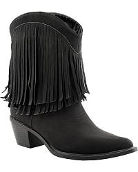 Roper Leather Fringe Cowgirl Boots - Pointed Toe at Sheplers