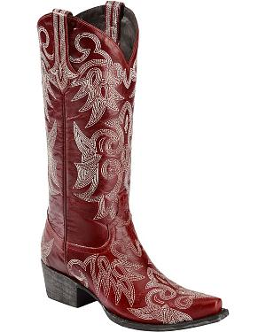 Lane Wild Ginger Cowgirl Boots - Snip Toe