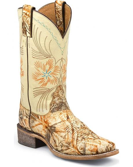 Nocona Stardust Cowgirl Boots - Square Toe