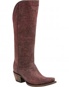 Lucchese Handcrafted 1883 Vera Distressed Cowgirl Boots - Snip Toe