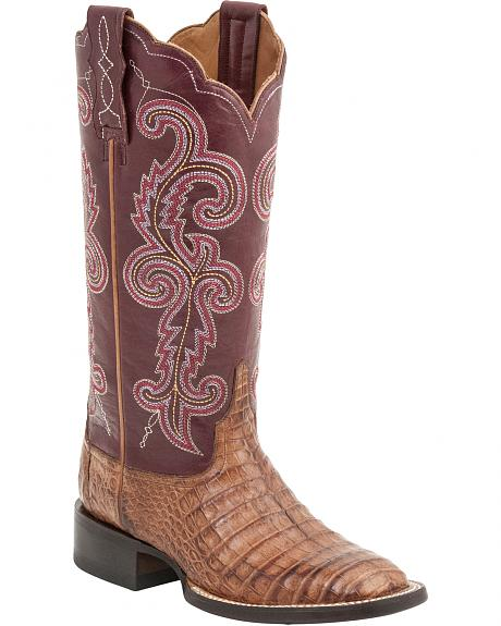 Lucchese Handcrafted 1883 Women's Annalyn Ultra Caiman Belly Boots - Round Toe