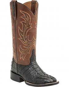 Lucchese Handcrafted 1883 Women's Lexie Hornback Caiman Tail Boots - Round Toe