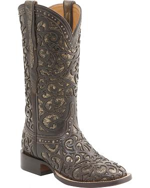 Lucchese Womens Sierra Lasercut Western Boots - Square Toe