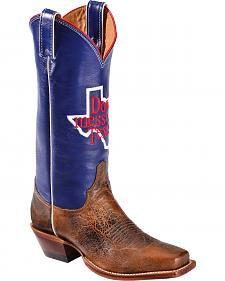 "Justin Boots ""Don't Mess with Texas"" 13"" Cowgirl Boots - Square Toe"