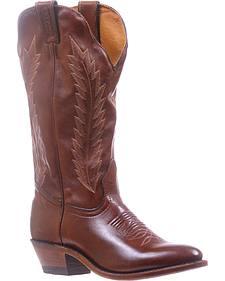Boulet Ranch Hand Tan Cowgirl Boots - Medium Toe