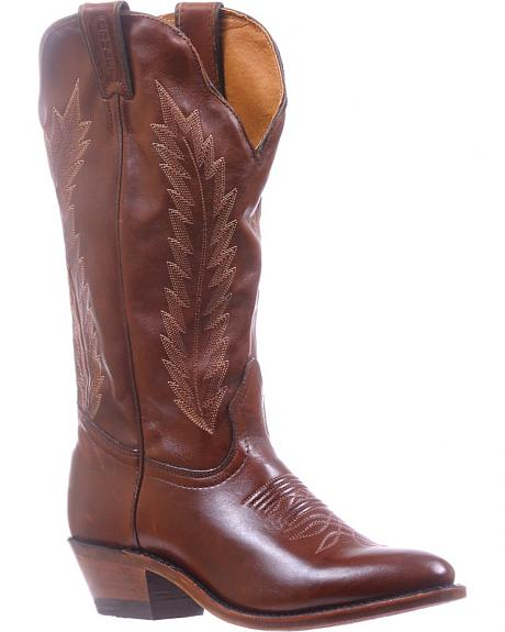 Boulet Ranch Hand Tan Cowgirl Boots - Medium Toe