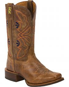 Tony Lama Honey Sierra 3R Stockman Cowgirl Boots - Square Toe