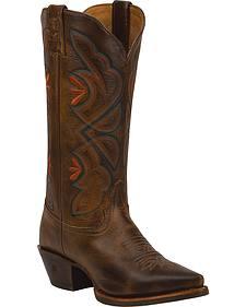 Tony Lama Saddle Rio 3R Western Cowgirl Boots - Snip Toe