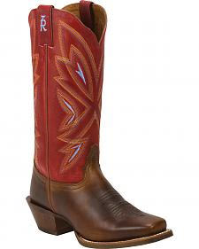 Tony Lama Women's Tan Cuero 3R Cowgirl Boots - Square Toe