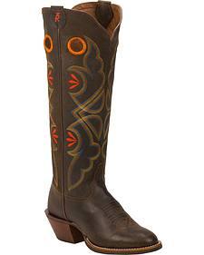 Tony Lama Cafe Loco Carrizo 3R Buckaroo Cowgirl Boots - Round Toe