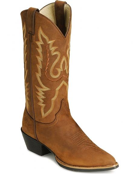 Justin Rubber Sole Western Boots